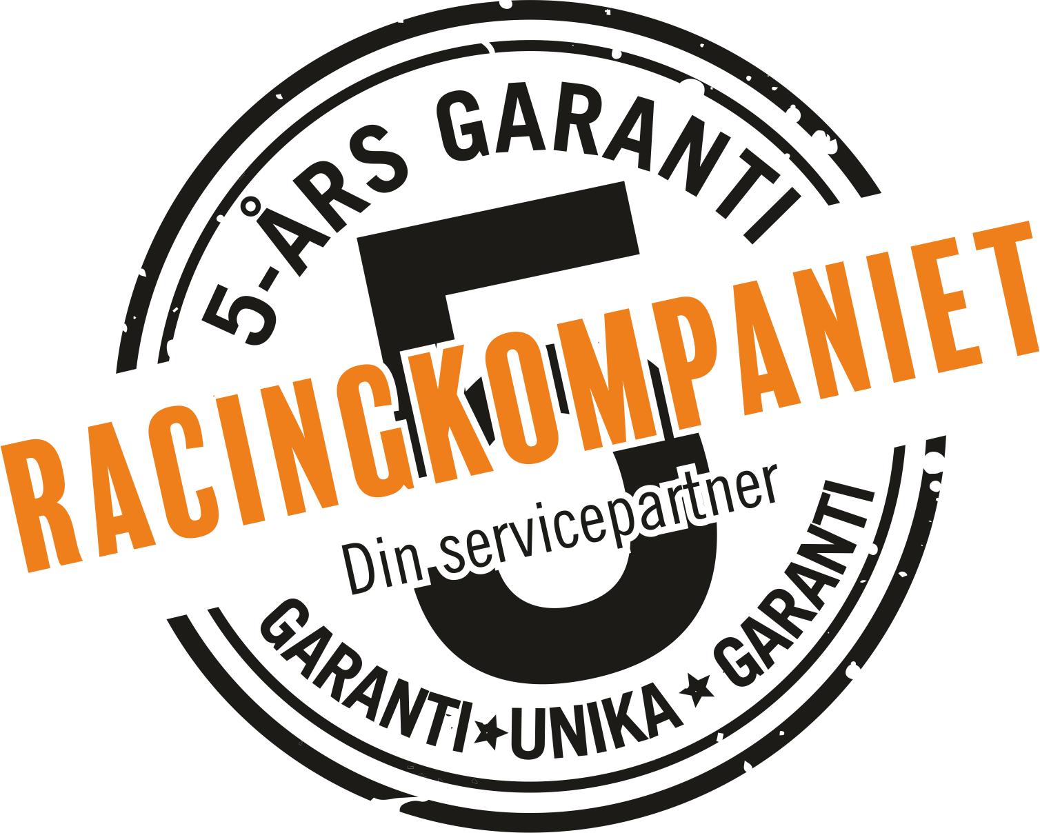 5-års garanti på Racingkompaniet!
